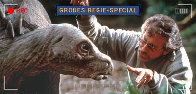 Steven Spielberg am Set von Vergessene Welt - Jurassic Park