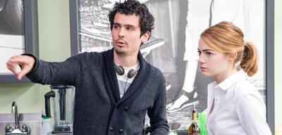 Damien Chazelle am Set von La La Land