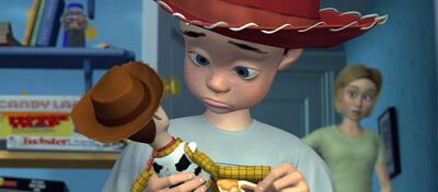 Die Szene mit dem roten Hut in Toy Story