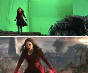 Scarlet Witch ist bereit, Thanos zu vermöbeln