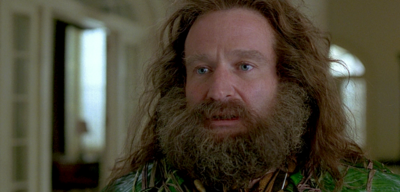Robin Williams in Jumanji (What Year is it? 1995.)