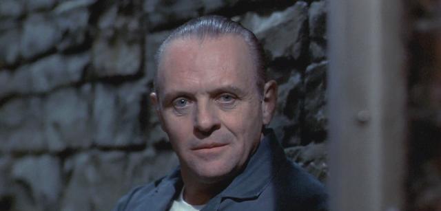 Anthony Hopkins als Hannibal Lecter in Das Schweigen der Lämmer