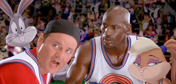 Bild zu:  Bill Murray und Michael Jordan in Space Jam