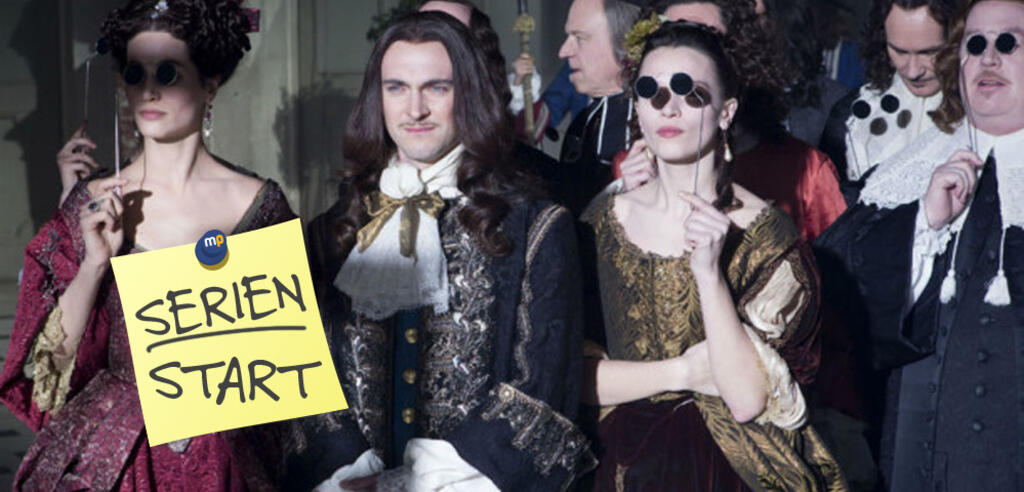 Bestaunen die Damen wohl die Bauarbeiten in Versailles?