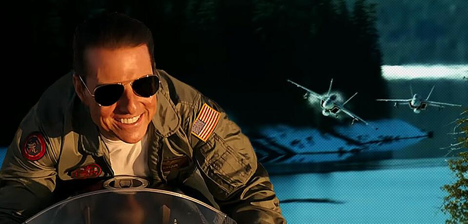 Tom Cruise in Top Gun 2: Maverick