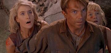 Sam Neill und Laura Dern in Jurassic Park