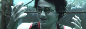 Harry Potter mit Kiemen im Trimagischen Turnier