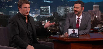 Nathan Fillion zu Gast bei Jimmy Kimmel