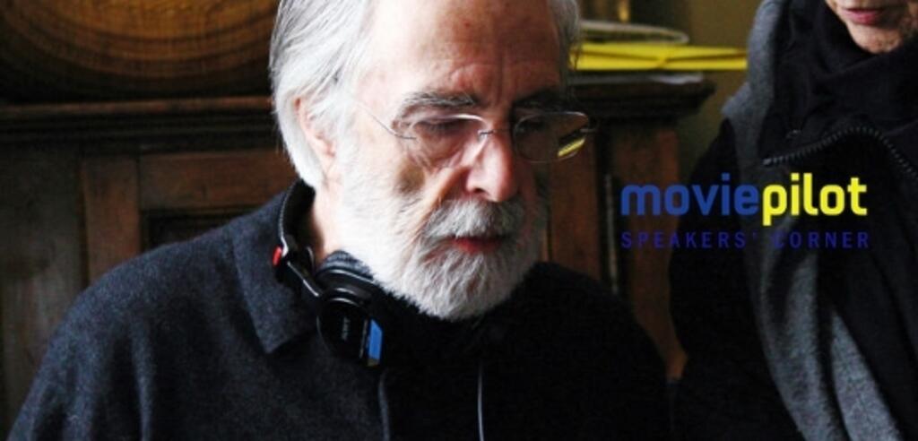 Michael Haneke am Set von Liebe