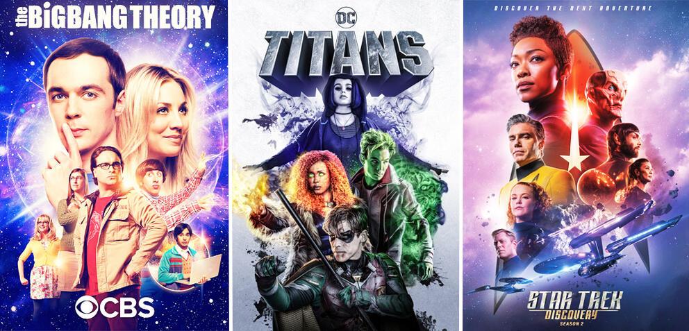 The Big Bang Theory/Titans/Star Trek: Discovery