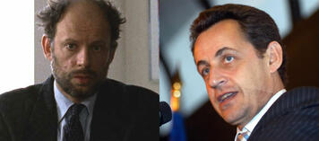 Denis Podalydès (l), Nicolas Sarkozy (r)