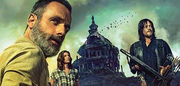 Bild zu:  Rick, Maggie und Daryl