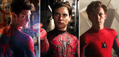 Andrew Garfield, Tobey Maguire und Tom Holland als Spider-Man: Homecoming