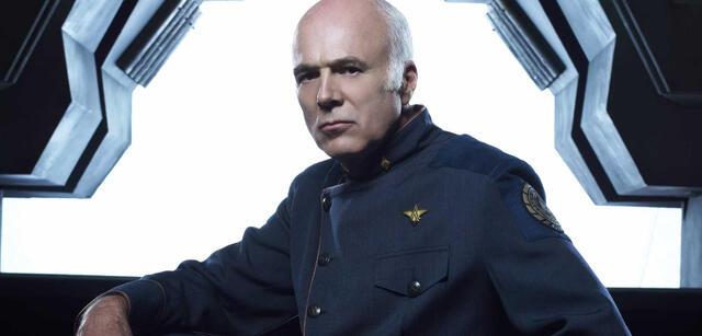 Michael Hogan in Battlestar Galactica