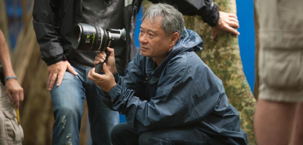 Ang Lee am Set von Life of Pi