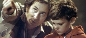 Steven Spielberg am Set von E.T. - Der Außerirdische