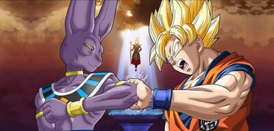 Beerus vs. Son Goku inDragonball Z: Battle of Gods
