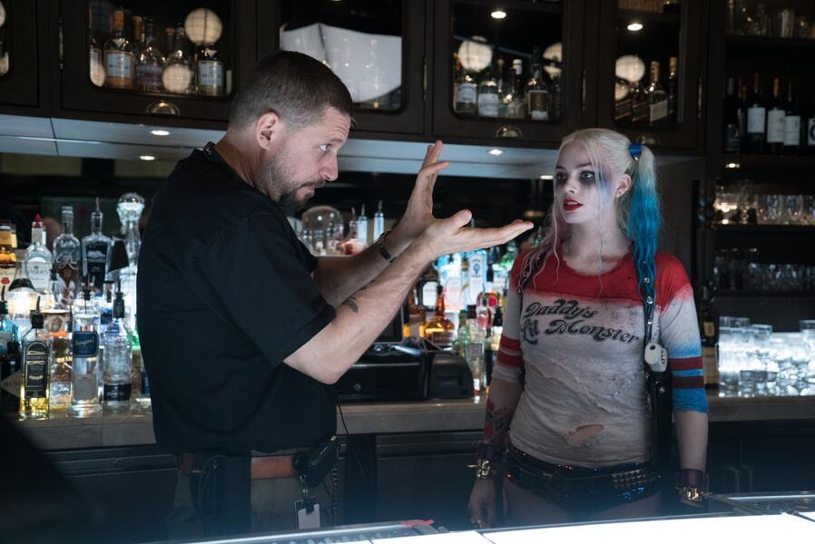 Suicide Squad mit Margot Robbie und David Ayer