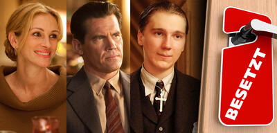 Julia Roberts in Eat Pray Love / Josh Brolin in Gangster Squad / Paul Dano in There Will Be Blood