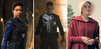 Bild zu:  Sonequa Martin-Green, Jon Bernthal und Elisabeth Moss starteten 2017 als Serienstars durch