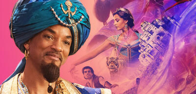 Aladdin mit Will Smith als Dschinni