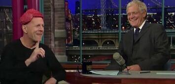 Bild zu:  Bruce Willis bei David Letterman