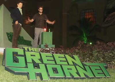 Seth Rogen und Michel Gondry präsentieren The Green Hornet in Cancun