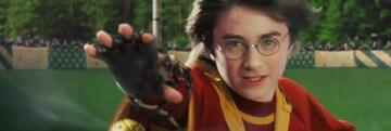 Harry Potter beim Quidditch-Spiel im Stein der Weisen