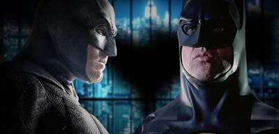 Ben Affleck und Michael Keaton als Batman