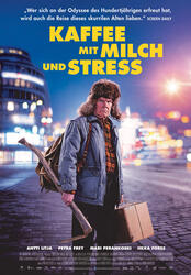 Kaffee mit Milch und Stress Poster