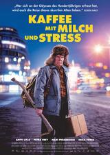 Kaffee mit Milch und Stress - Poster