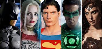 Bild zu:  Batman, Harley Quinn, Superman, Green Lantern, Wonder Woman