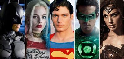 Batman, Harley Quinn, Superman, Green Lantern, Wonder Woman