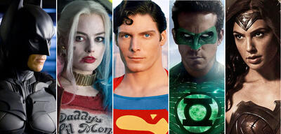 Batman, Harley Quinn, Superman, Green Lantern, Wonder Woman