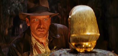 Jäger des verlorenen Schatzes, mit Harrison Ford