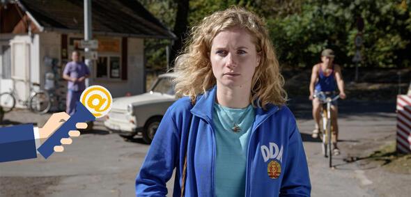 Cornlie Gröschel als Catrin im Dreiteiler Honigfrauen