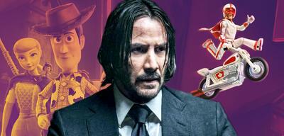 Keanu Reeves spricht in Toy Story 4 Duke Kaboom