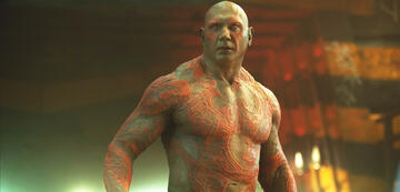 Dave Bautista als Drax in Guardians of the Galaxy