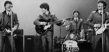 Paul, George, Ringo und John inThe Beatles: Eight Days a Week - The Touring Years