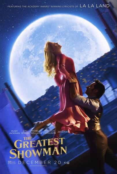 Greatest Showman mit Hugh Jackman und Michelle Williams
