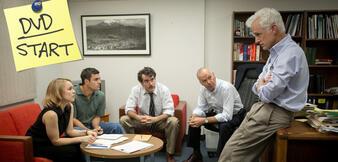 Rachel McAdams, Mark Ruffalo, Brian D'Arcy James, Michael Keaton und John Slattery in Spotlight