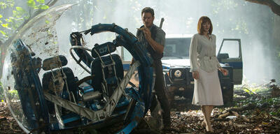 Chris Pratt und Bryce Dallas Howard in Jurassic World
