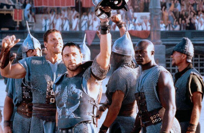 Gladiator mit Russell Crowe und Djimon Hounsou