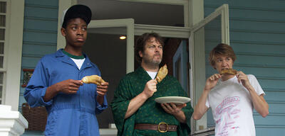 RJ Cyler, Nick Offerman und Thomas Mann in Me and Earl and the Dying Girl