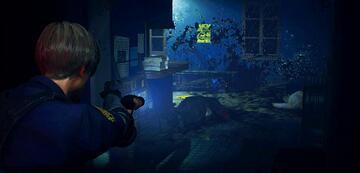 Leon bei der Arbeit (Resident Evil 2 Remake)