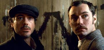 Robert Downey Jr. als Sherlock und Jude Law als Watson