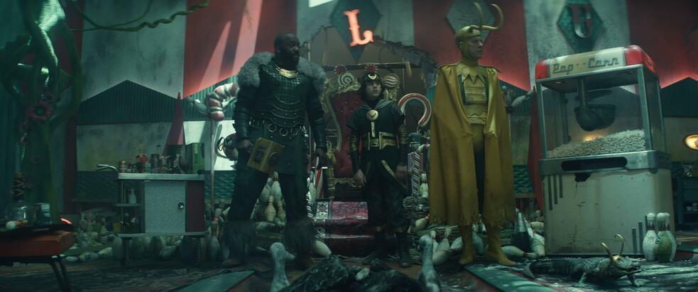 Loki, Loki - Staffel 1, Loki - Staffel 1 Episode 5 mit Richard E. Grant, Deobia Oparei und Jack Veal
