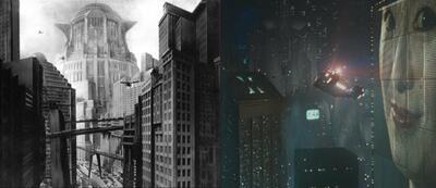 Häuserschluchten in Metropolis und Blade Runner