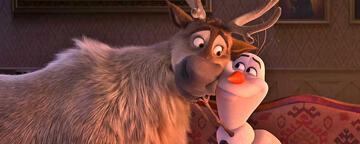 Rentier Sven und Schneemann Olaf in Frozen 2