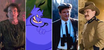 Robin Williams in Hook, Aladdin, Der Club der toten Dichter und Nachts im Museum